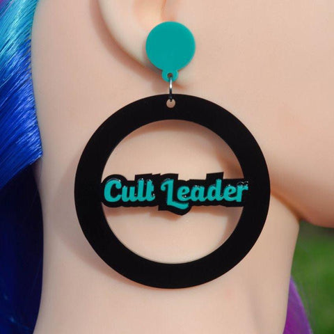 Cult Leader Mega Hoop Cutout Acrylic Earrings - Harlem Starlet