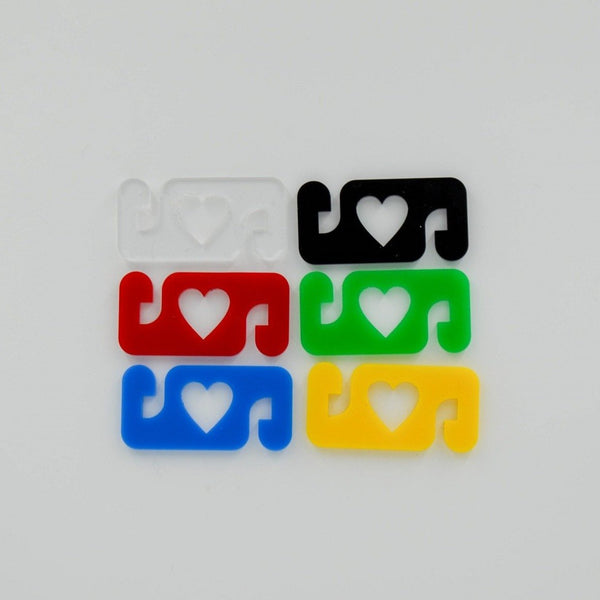Ear Saver Mask Clips - 3/6/12/24 Pack - Heart Motif - Harlem Starlet