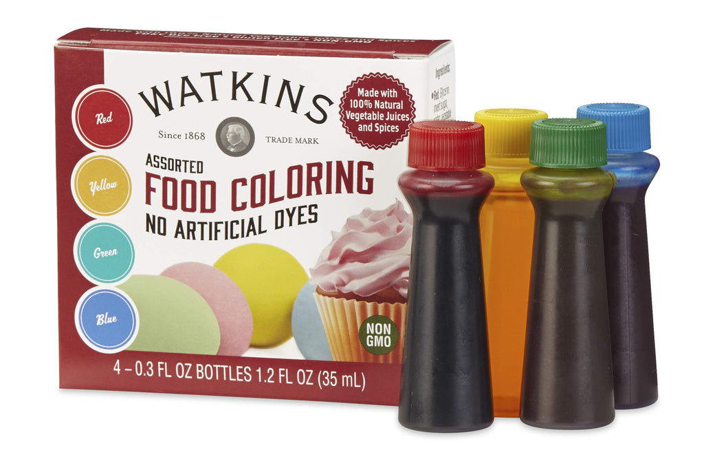 Gluten-Free Dye Free Food Coloring – 4 Pack