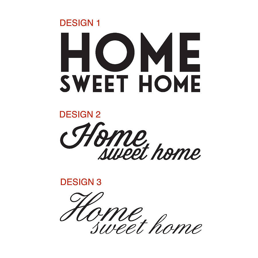 Wall stickers home sweet home -  Paper Already Applied To It Simply Stick It To The Wall And Carefully Peel Off The Backing Paper Full Instructions Are Included With Every Sticker