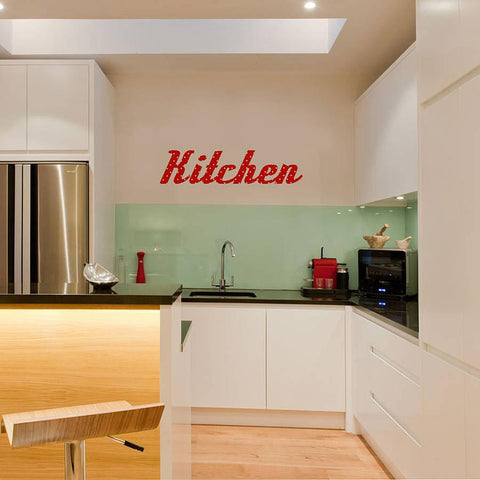 'Kitchen' Retro Vinyl Wall Sticker - Oakdene Designs - 1