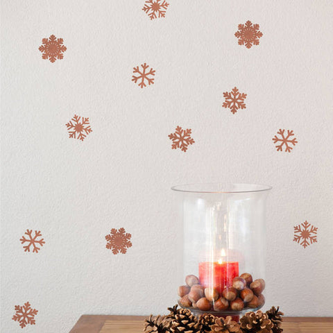 Copper Effect Snowflake Set - Oakdene Designs - 1