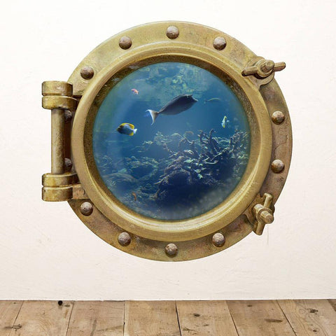 Underwater Porthole Wall Sticker - Oakdene Designs - 1