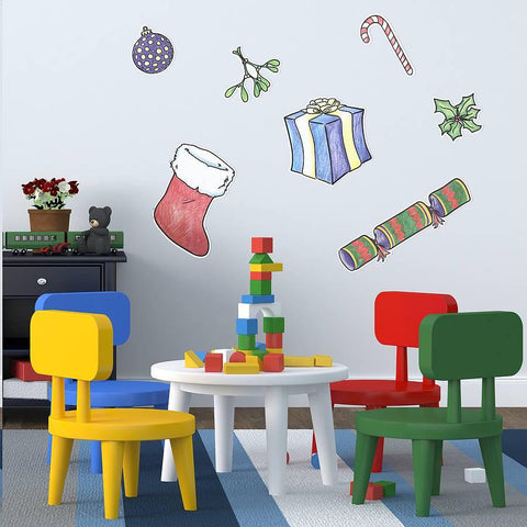 Colour In Christmas Activity Wall Sticker - Oakdene Designs - 1