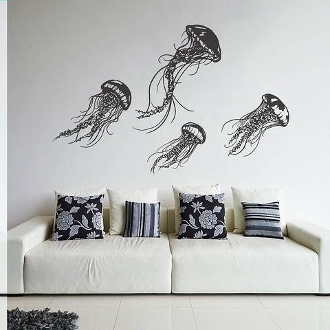 Jellyfish Wall Sticker Set - Oakdene Designs - 1
