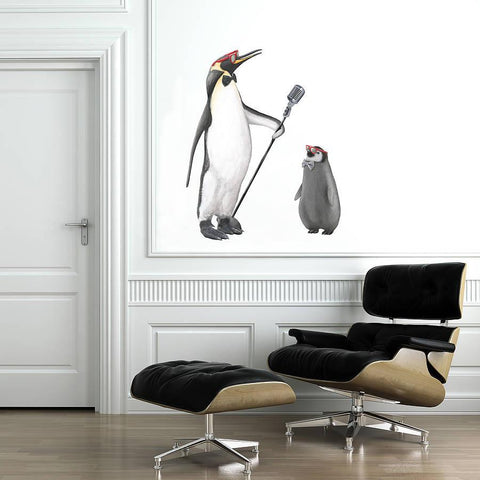 Cool Penguins Wall Sticker - Oakdene Designs - 1