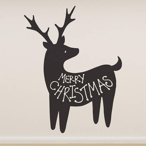 'Merry Christmas' Reindeer Wall Sticker - Oakdene Designs - 1