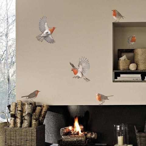 Robin Vinyl Wall Sticker Set - Oakdene Designs - 1