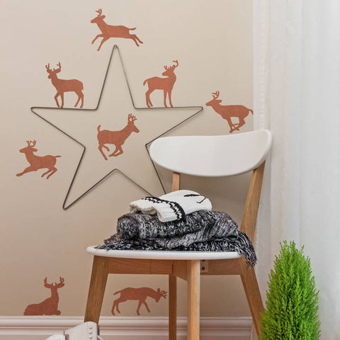 Copper Effect Reindeer Wall Sticker Set - Oakdene Designs - 1