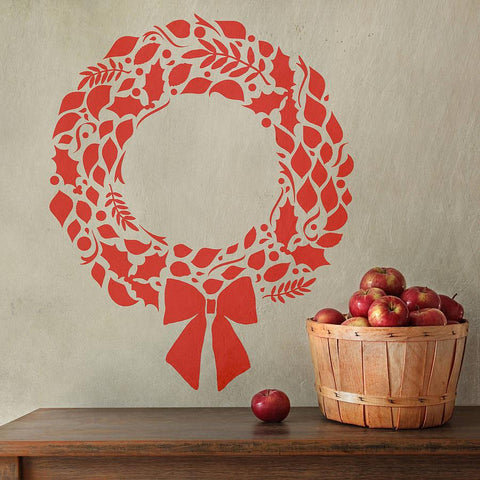 Christmas Wreath Wall Sticker - Oakdene Designs - 1