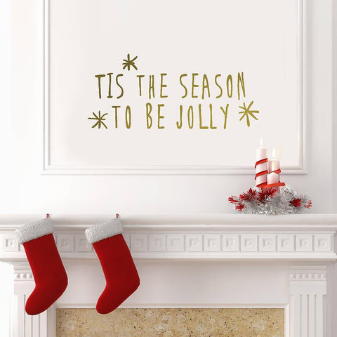 Gold 'Tis The Season' Wall Sticker - Oakdene Designs - 1