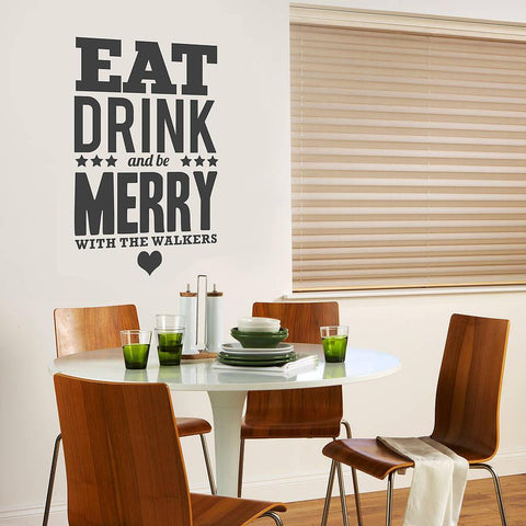 'Personalised' Be Merry Wall Sticker - Oakdene Designs - 1