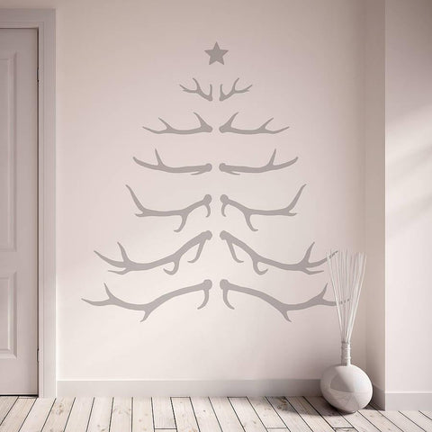 Antler christmas tree wall sticker oakdene designs 2