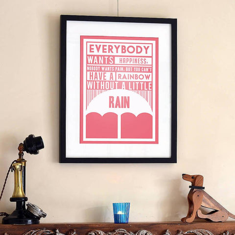 'Everybody Wants Happiness' Print - Oakdene Designs - 1