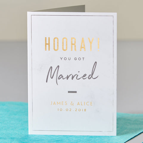 Hooray Marriage Card
