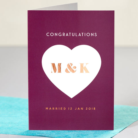 Monogram Wedding Card