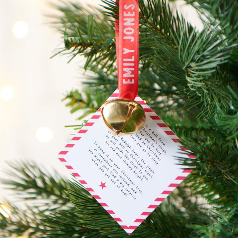 Personalised Bell Hanging Decoration