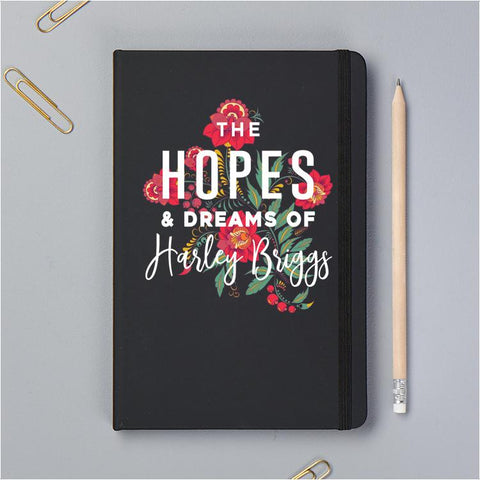 Personalised Hopes And Dreams Notebook