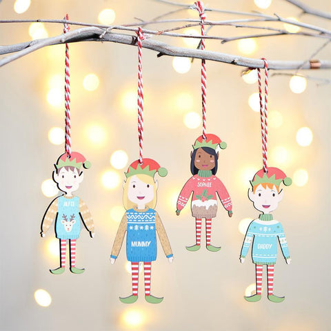 Family Elf Decoration