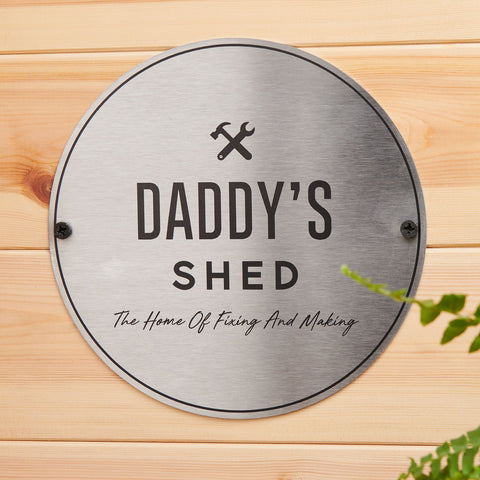 Personalised Steel Shed Sign