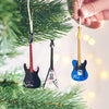 Personalised Guitar Christmas Tree Decoration