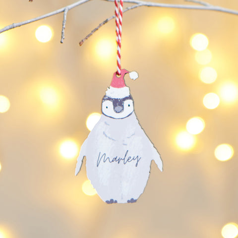 Personalised Penguin Hanging Decoration