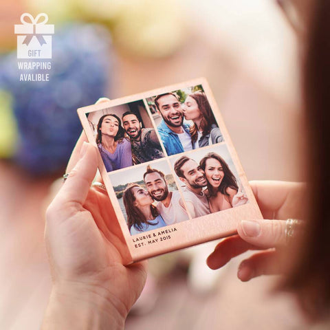 Personalised Solid Copper Photo Booth Style Print