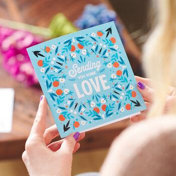 'Sending You Some Love' Greetings Card Sent Direct