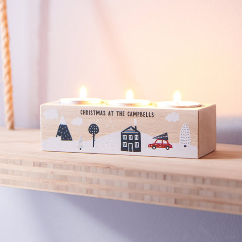Personalised Family Tealight Holder