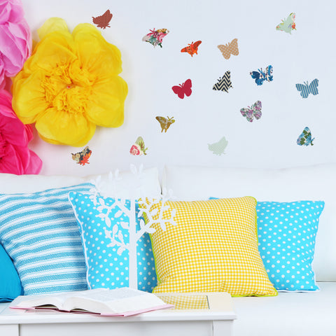 Vintage Butterfly Wall Sticker Set | oakdenedesigns.com