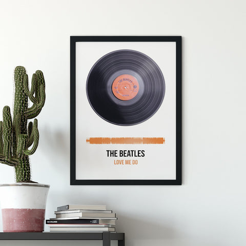 Personalised Vinyl Record Framed Print