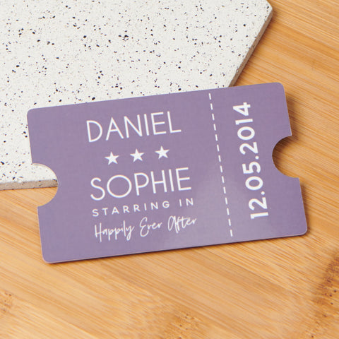 Personalised Couples Wallet Card