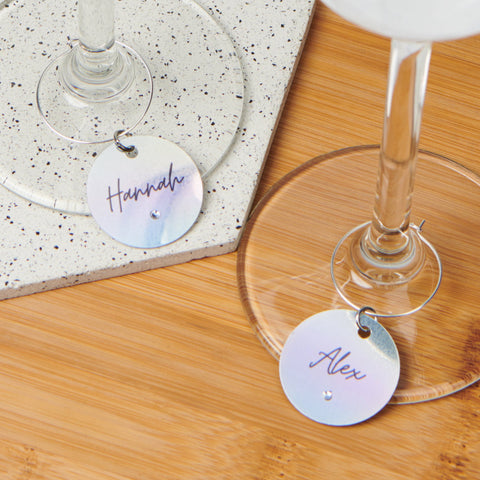 Personalised Holographic Wine Charm