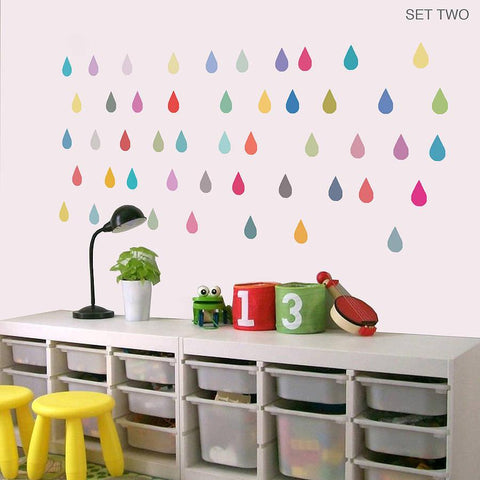 'Raindrop' Vinyl Wall Stickers - Oakdene Designs - 1