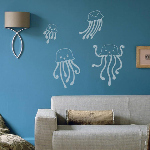 Child's Jellyfish Wall Sticker Set - Oakdene Designs - 1