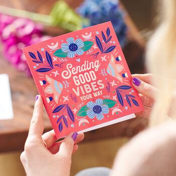 'Sending Good Vibes' Greetings Card Sent Direct