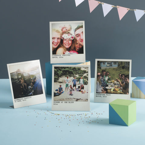 Personalised Metal Polaroid Prints, Set Of Four