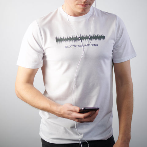 Personalised Sound Wave White T Shirt