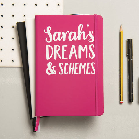 Personalised Dreams And Schemes Notebook - Oakdene Designs - 1