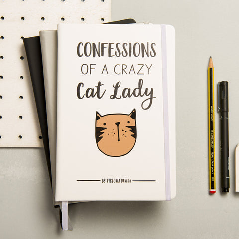 Personalised Crazy Cat Lady Notebook - Oakdene Designs - 1