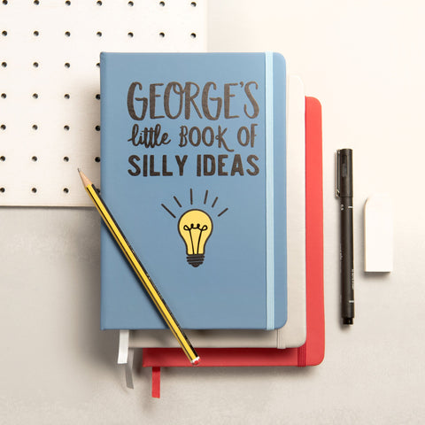 Personalised Book Of Silly Ideas Notebook - Oakdene Designs - 1
