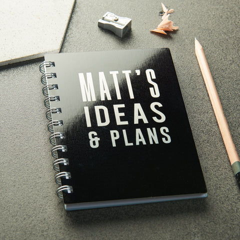 Personalised Metal Ideas And Plans Pocket Notebook