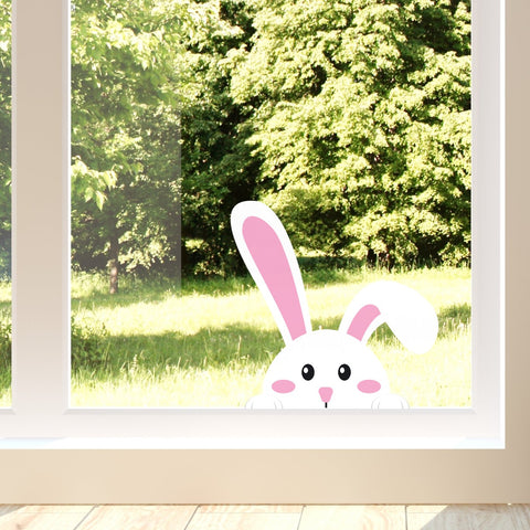 Easter Peeking Rabbit Window Sticker / Decal | oakdenedesigns.com