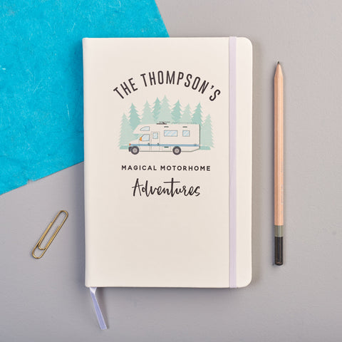 Personalised Motorhome Adventure Notebook