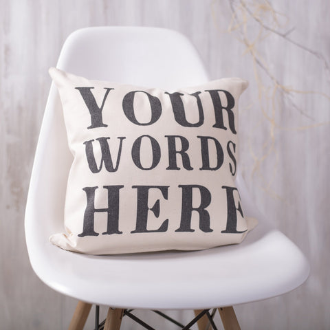 Personalised Quote Cushion - Oakdene Designs - 1