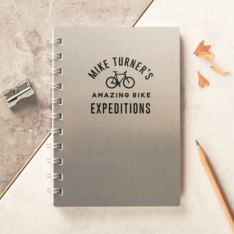 Personalised Metal Bike Expeditions Pocket Notebook