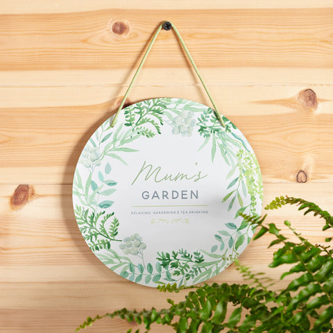 Personalised Round Metal Garden Sign