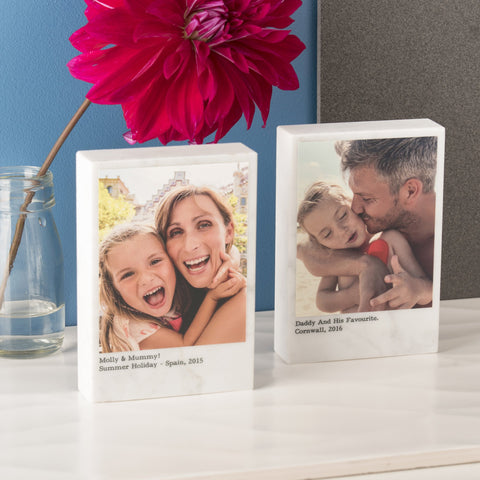 Personalised Solid Marble Photo Block - Oakdene Designs - 1