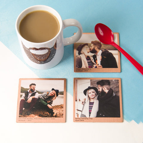 Personalised Solid Copper Photo Coaster - Oakdene Designs