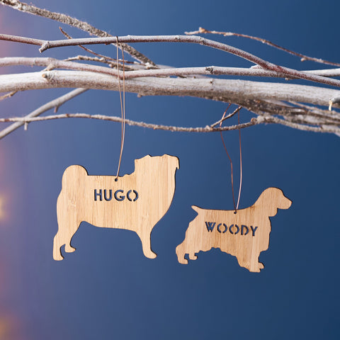 Bamboo Personalised Pet Christmas Decoration
